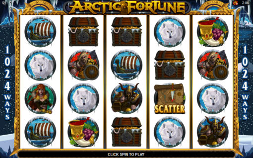 Arctic Fortune Poker Machine Main Screen