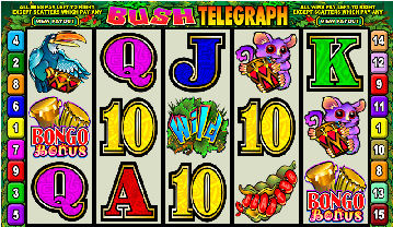 Bush Telegraph Poker Machine Main Screen