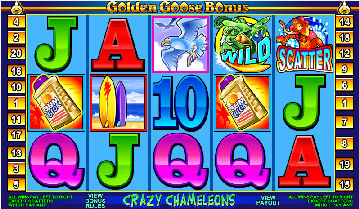Golden Goose Poker Machine Game Screen