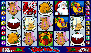 Ho Ho Ho Poker Machine Game Screen