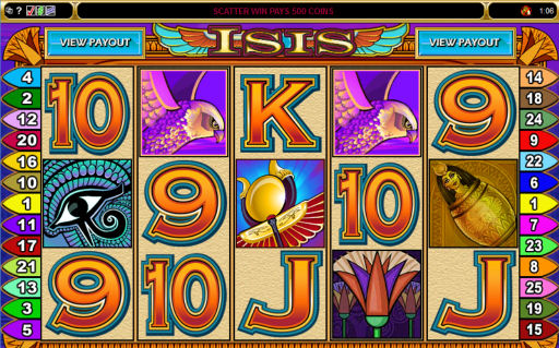 Egyptian Isis 25 Line Poker Machine Preview