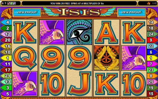Free Spin Feature on Isis Pokies