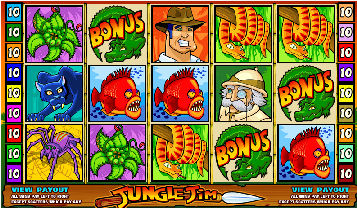 Jungle Jim Online Pokies Game Screen