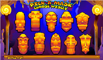 Big Kahuna Video Pokies - Pick a Mask Bonus