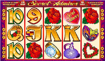 Secret Admirer Poker Machine Main Screen