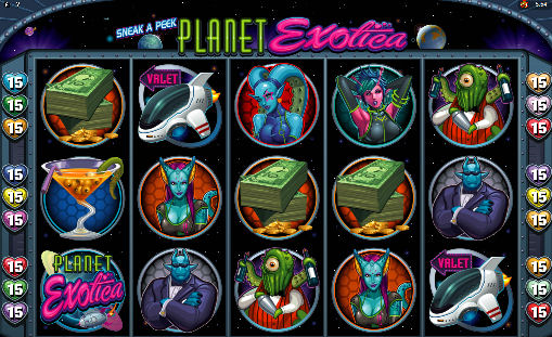 Sneak A Peek - Planet Exotica Poker Machine