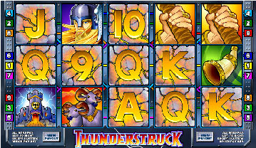 Thunderstruck Poker Machine Screenshot