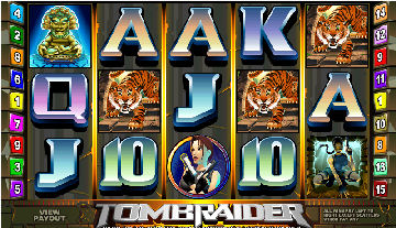 Tomb Raider Video Pokies Screen Preview