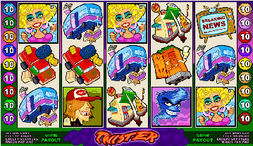 Twister Poker Machine Main Screen