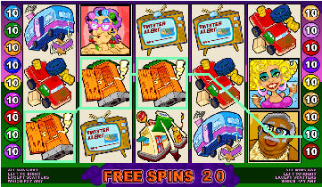 Twister Video Pokies - Free Spins Bonus