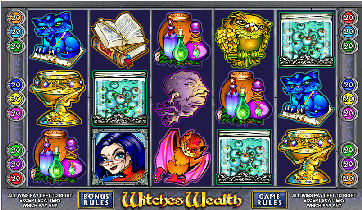 Witches Wealth 9 Line Poker Machine
